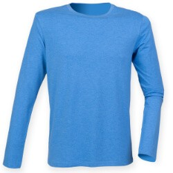 Stretch t-shirt lange mouw Xtra lang heren lightweight