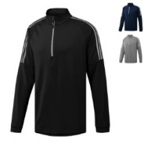 Adidas 3-stripe 1/4 zip top sweater