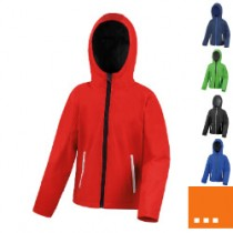 BQ Junior performance softshell met capuchon